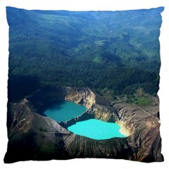 Kelimutu Crater Lakes  Indonesia Standard Flano Cushion Case (two Sides) by Nexatart