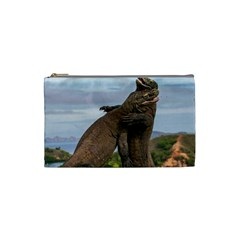 Komodo Dragons Fight Cosmetic Bag (small)  by Nexatart