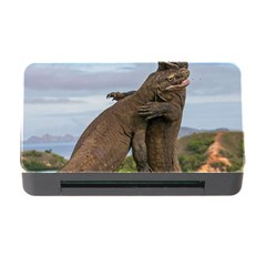 Komodo Dragons Fight Memory Card Reader With Cf by Nexatart