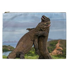 Komodo Dragons Fight Cosmetic Bag (xxl)  by Nexatart