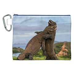 Komodo Dragons Fight Canvas Cosmetic Bag (xxl) by Nexatart