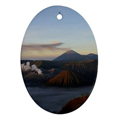 Sunrise Mount Bromo Tengger Semeru National Park  Indonesia Oval Ornament (two Sides) by Nexatart