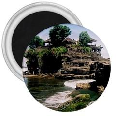 Tanah Lot Bali Indonesia 3  Magnets by Nexatart