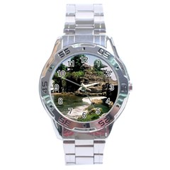 Tanah Lot Bali Indonesia Stainless Steel Analogue Watch