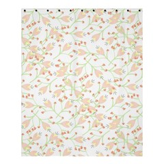 Small Floral Flowers Pattern  Shower Curtain 60  X 72  (medium)  by paulaoliveiradesign