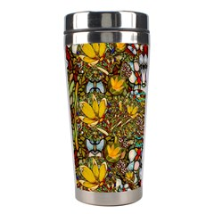 Fantasy Forest And Fantasy Plumeria In Peace Stainless Steel Travel Tumblers by pepitasart