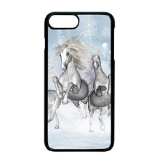 Awesome Running Horses In The Snow Apple Iphone 7 Plus Seamless Case (black) by FantasyWorld7