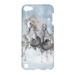 Awesome Running Horses In The Snow Apple Ipod Touch 5 Hardshell Case by FantasyWorld7