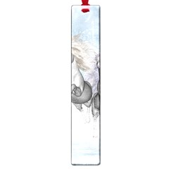 Awesome Running Horses In The Snow Large Book Marks by FantasyWorld7