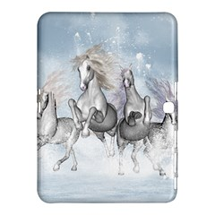 Awesome Running Horses In The Snow Samsung Galaxy Tab 4 (10 1 ) Hardshell Case  by FantasyWorld7