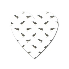 Exotic Birds Motif Pattern Heart Magnet by dflcprints