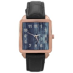Grey Fence 2 Rose Gold Leather Watch  by trendistuff