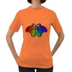 Rainbow Butterfly  Women s Dark T Shirt by Valentinaart