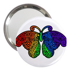 Rainbow Butterfly  3  Handbag Mirrors by Valentinaart