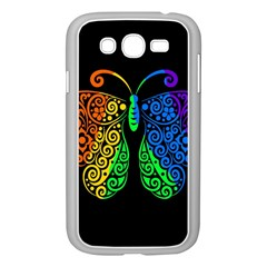 Rainbow Butterfly  Samsung Galaxy Grand Duos I9082 Case (white) by Valentinaart