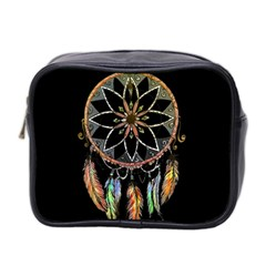 Dreamcatcher  Mini Toiletries Bag 2 Side by Valentinaart