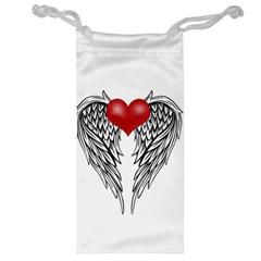 Angel Heart Tattoo Jewelry Bag by Valentinaart