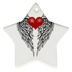 Angel Heart Tattoo Star Ornament (two Sides) by Valentinaart