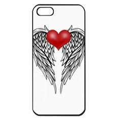 Angel Heart Tattoo Apple Iphone 5 Seamless Case (black) by Valentinaart