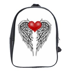 Angel Heart Tattoo School Bag (xl) by Valentinaart