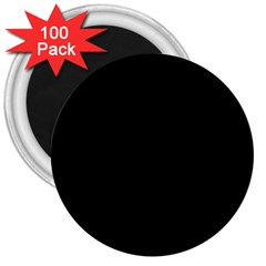 Black 3  Magnets (100 Pack) by theunrulyartist