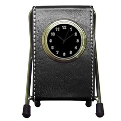Black Pen Holder Desk Clocks by theunrulyartist
