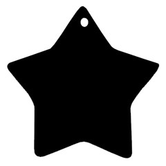 Black Star Ornament (two Sides) by theunrulyartist