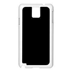 Black Samsung Galaxy Note 3 N9005 Case (white) by theunrulyartist