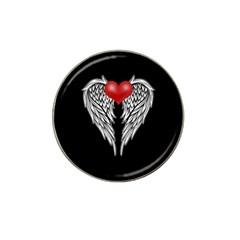 Angel Heart Tattoo Hat Clip Ball Marker by Valentinaart