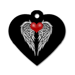 Angel Heart Tattoo Dog Tag Heart (one Side) by Valentinaart
