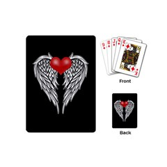 Angel Heart Tattoo Playing Cards (mini)  by Valentinaart