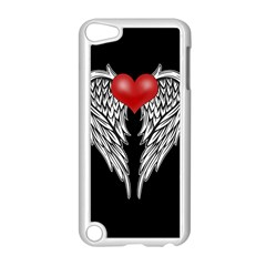 Angel Heart Tattoo Apple Ipod Touch 5 Case (white) by Valentinaart