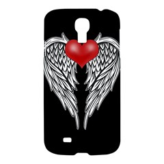 Angel Heart Tattoo Samsung Galaxy S4 I9500/i9505 Hardshell Case by Valentinaart