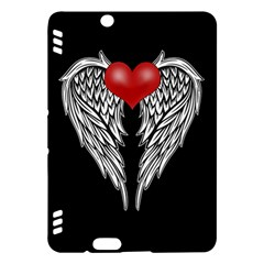 Angel Heart Tattoo Kindle Fire Hdx Hardshell Case by Valentinaart