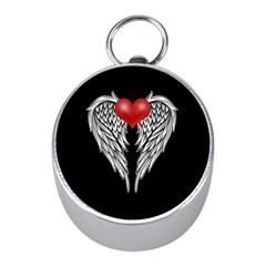 Angel Heart Tattoo Mini Silver Compasses by Valentinaart
