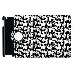 Panda Pattern Apple Ipad 3/4 Flip 360 Case by Valentinaart