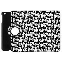 Panda Pattern Apple Ipad Mini Flip 360 Case by Valentinaart