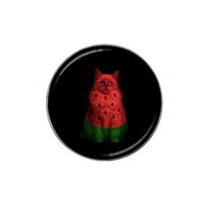 Watermelon Cat Hat Clip Ball Marker by Valentinaart