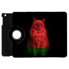 Watermelon Cat Apple Ipad Mini Flip 360 Case by Valentinaart