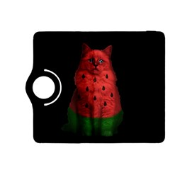 Watermelon Cat Kindle Fire Hdx 8 9  Flip 360 Case by Valentinaart