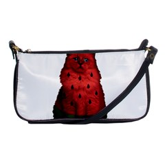 Watermelon Cat Shoulder Clutch Bags by Valentinaart