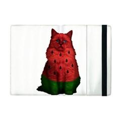 Watermelon Cat Apple Ipad Mini Flip Case by Valentinaart
