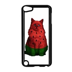 Watermelon Cat Apple Ipod Touch 5 Case (black) by Valentinaart