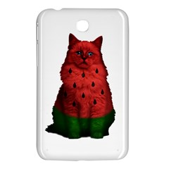 Watermelon Cat Samsung Galaxy Tab 3 (7 ) P3200 Hardshell Case  by Valentinaart