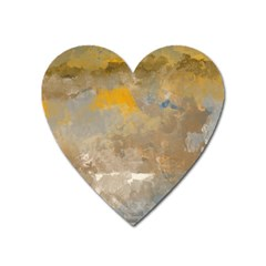 Sunset In The Mountains Heart Magnet by theunrulyartist
