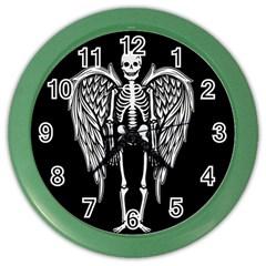 Angel Skeleton Color Wall Clocks by Valentinaart
