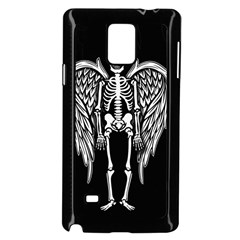 Angel Skeleton Samsung Galaxy Note 4 Case (black) by Valentinaart