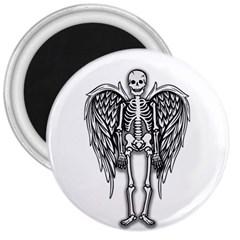 Angel Skeleton 3  Magnets by Valentinaart