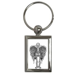 Angel Skeleton Key Chains (rectangle)  by Valentinaart