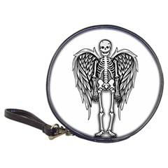 Angel Skeleton Classic 20 Cd Wallets by Valentinaart